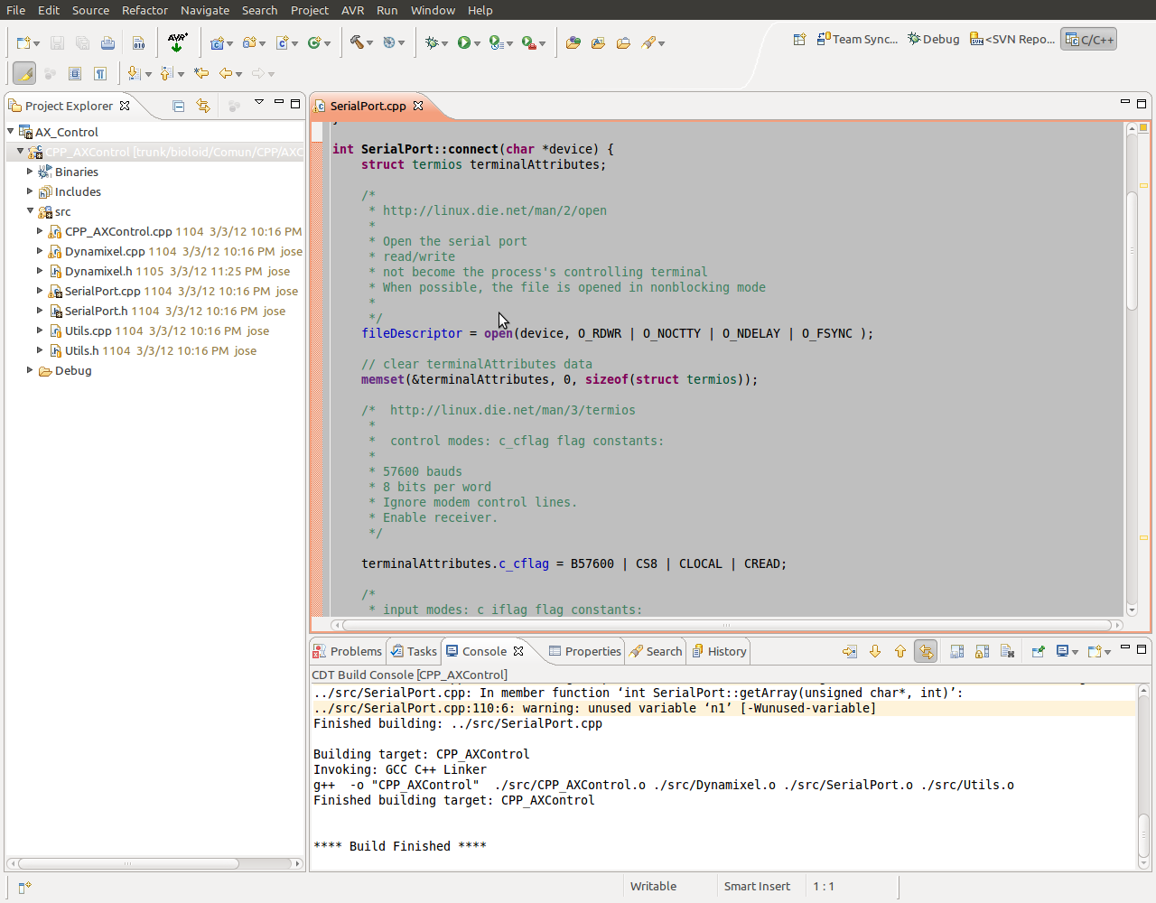 Linux C++ Dynamixel reading and writing example | Software Souls